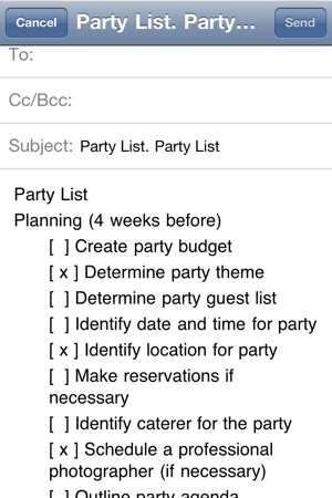 Party Planning List on the App Store - party planning schedule