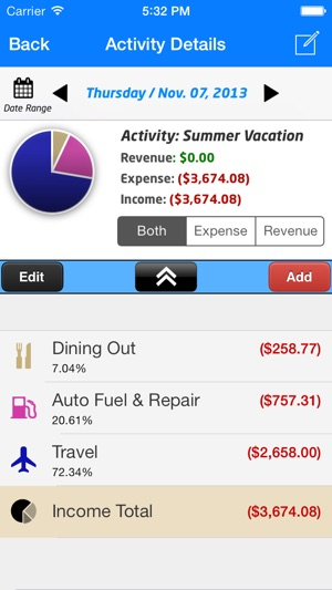 EZ Track™ Personal  Business Expense Finance Debt Tracker App on