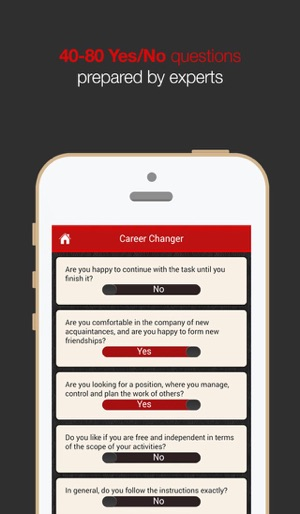 I will - the career test on the App Store