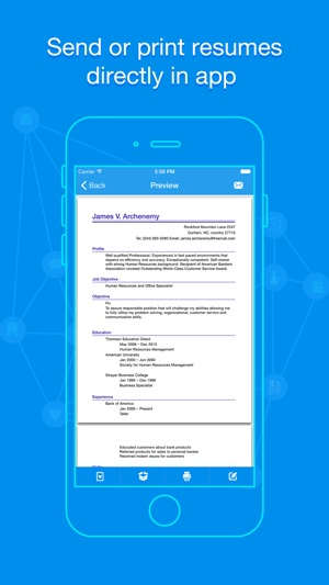Quick Resume - Resumes Builder and Designer on the App Store - mobile resume creator