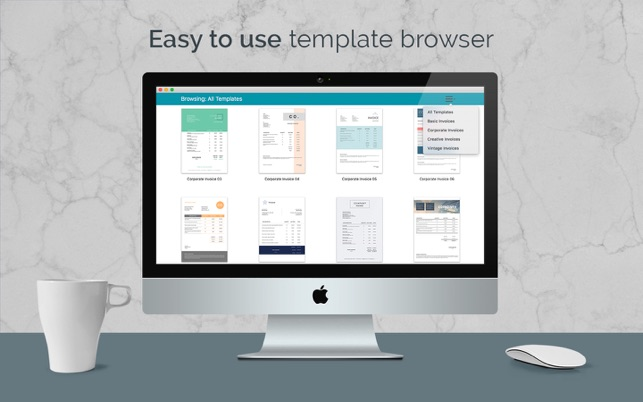 Quick Invoice - 100+ Invoice Templates for Pages on the Mac App Store - pages invoice template