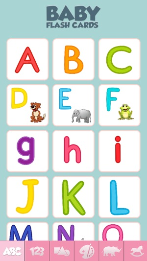 Baby Flash Cards Game Learn Alphabet Numbers Words on the App Store