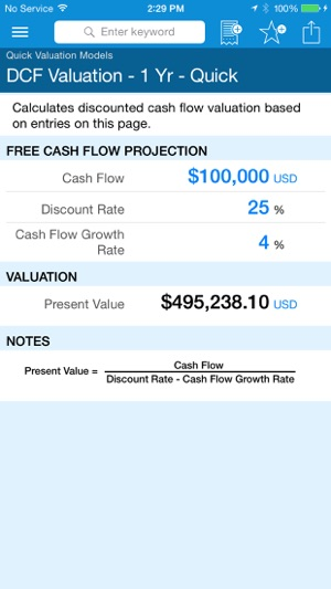 Business Valuation on the App Store