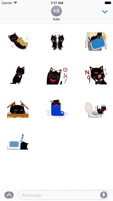 Naughty Black Cat Emoji Sticker App Data  Review - Stickers - Apps