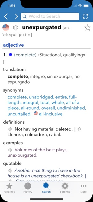English Spanish Dictionary on the App Store