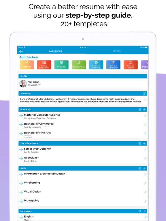 Quick Resume Builder, CV Maker App Price Drops