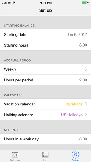 PTO Tracker on the App Store