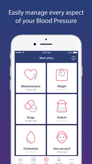 Blood Pressure tracker app on the App Store