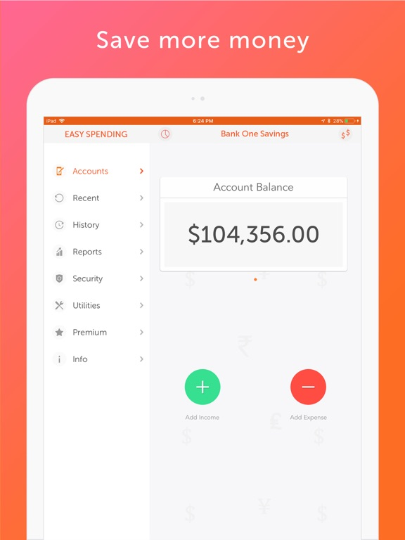 Easy Spending, Expense tracker IPA Cracked for iOS Free Download