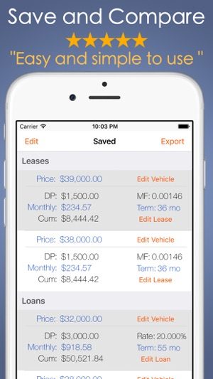 Car Payment Calculator Mobile on the App Store - lease payment calculator