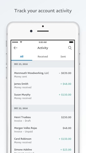 PayPal Business Send Invoices on the App Store - sending invoices