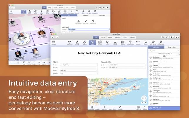 MacFamilyTree 8 on the Mac App Store