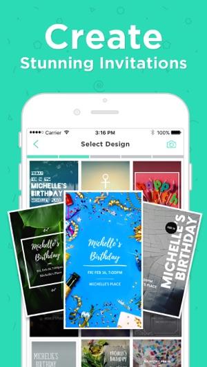 Birthday Invitation Card Maker en App Store - evites invitation maker