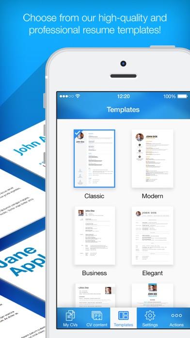 Resume Builder, Resume Creator - App - Mobile Apps - TUFNC