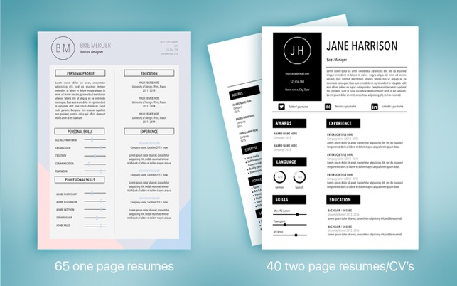 Resume  CV Templates by ON on the Mac App Store - resume cv templates