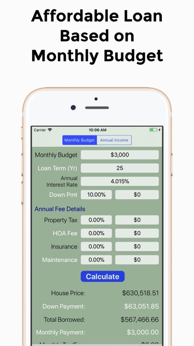 Mortgage Calculator/ Loan Calc - by giang pham - Finance Category