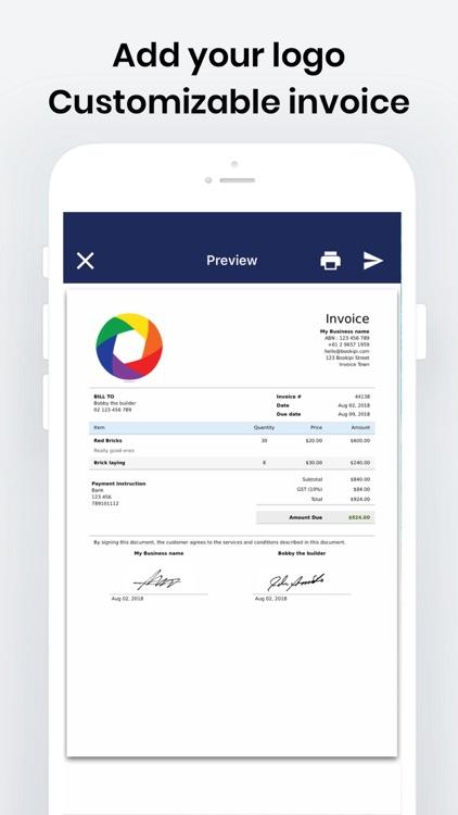 Bookipi Invoice Maker Estimate by Invoice Bee Pty Ltd