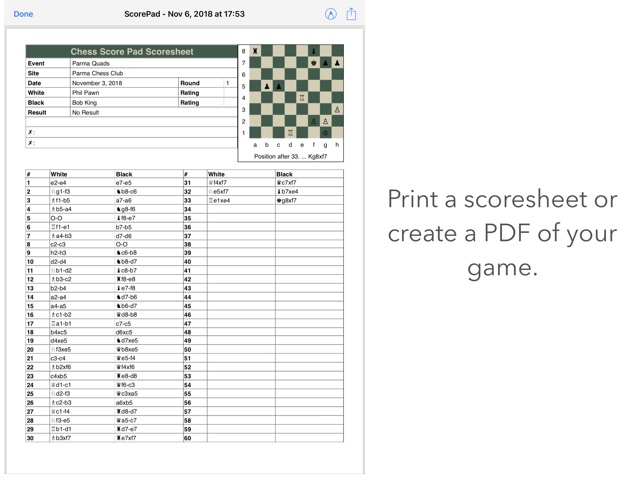 Chess Score Pad on the App Store