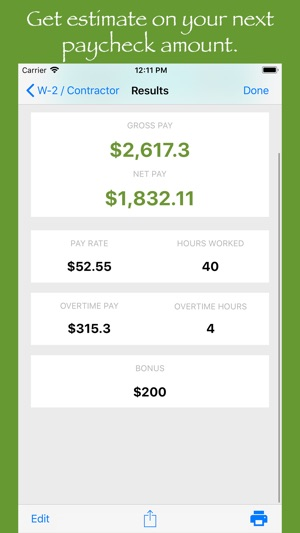Paycheck Estimate on the App Store