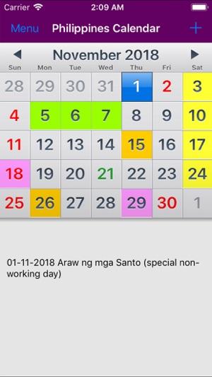 2019 Philippines Calendar NoAd on the App Store