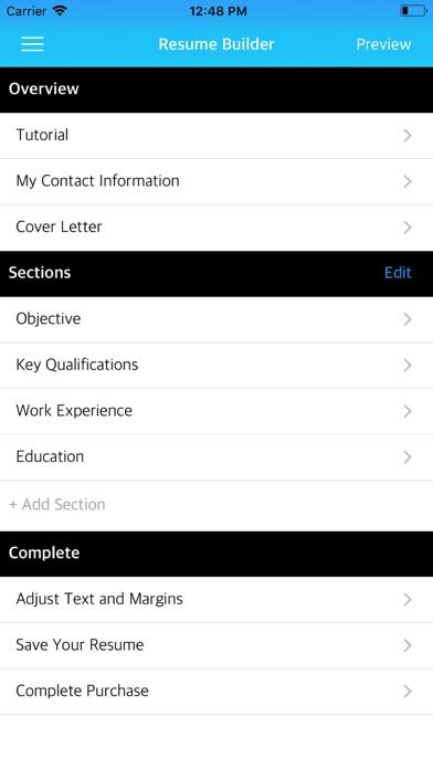 Resume Builder App - App - Mobile Apps - TUFNCCOM