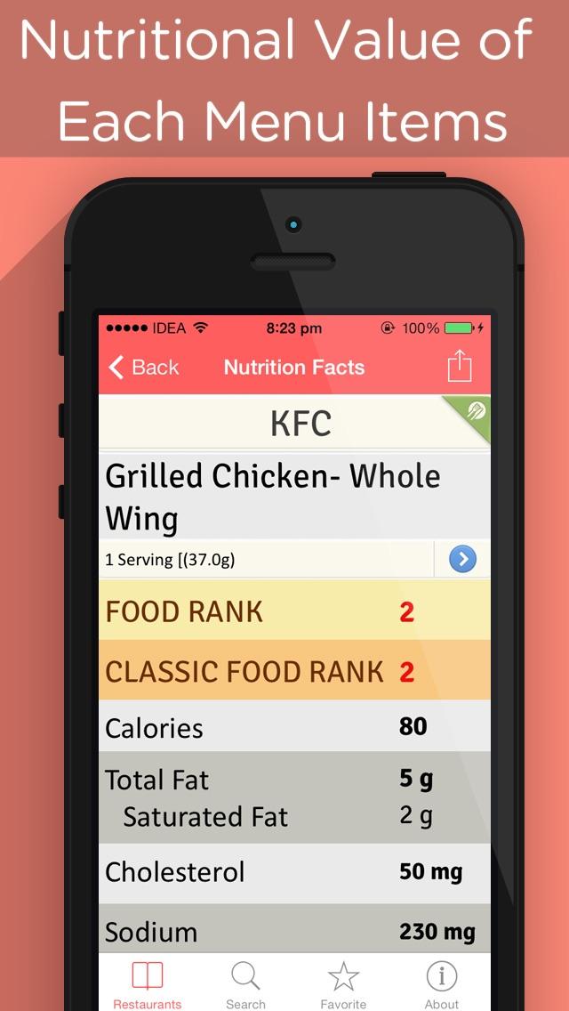NutriSmart - Restaurant Menu, Fast Food Calories Counter, Weight