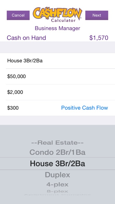CASHFLOW Financial Statement Calculator - by The Rich Dad Company