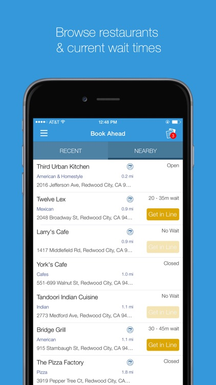 The List - Restaurant Wait list and Booking App by CAKE Corporation