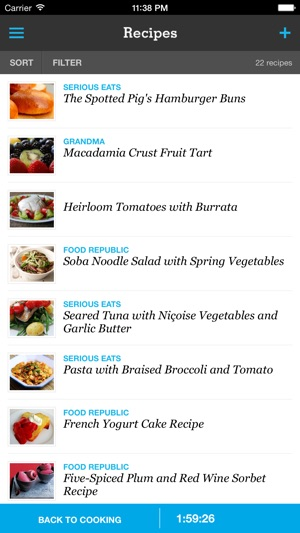 Recipe, Menu  Cooking Planner on the App Store