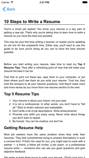 Guide to writing the perfect Curriculum Vitae (Résumé) on the App Store - How To Write A Vitae Resume