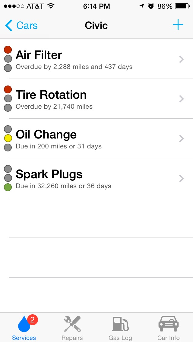 Car Minder Plus - Car Maintenance and Gas Log (MPG) by Josh Monroe