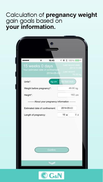Pregnancy Weight Monitor + Weight calculator + Weight Tracker - BMI - Plan Pregnancy Calculator