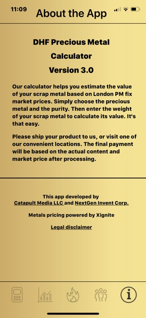 DHF Precious Metal Calculator on the App Store - product pricing calculator