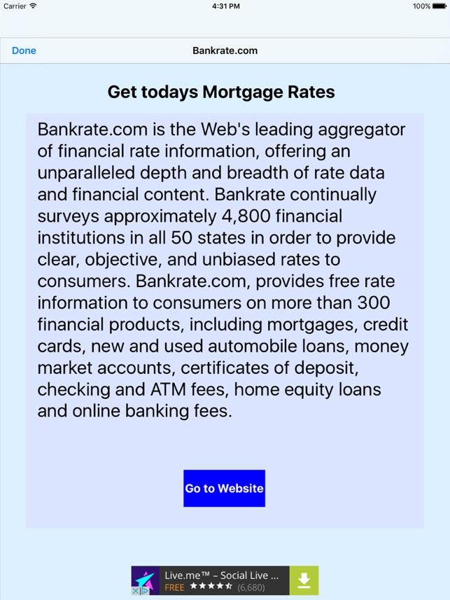 Quick Mortgage Calculator for iPad en App Store