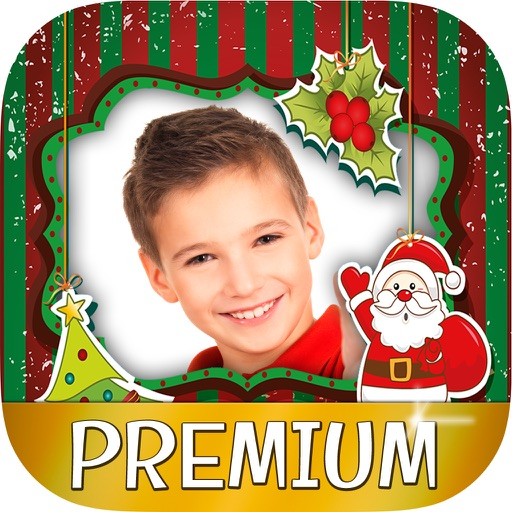 Christmas photo frames for kids - Photo editor to create xmas cards for