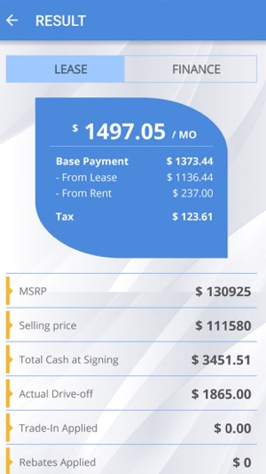 Car Lease Payment Calculator on the App Store - lease payment calculator