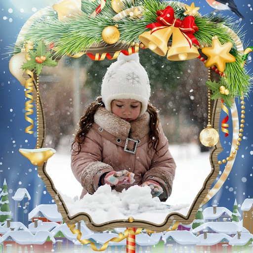 Holly Jolly Christmas Frame - Beauty Frames App Data  Review