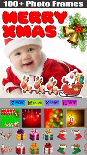 Christmas Photo Frame + Poster on the App Store