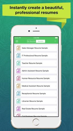 Resume Apex \u2013 Professional CV Maker  Builder on the App Store