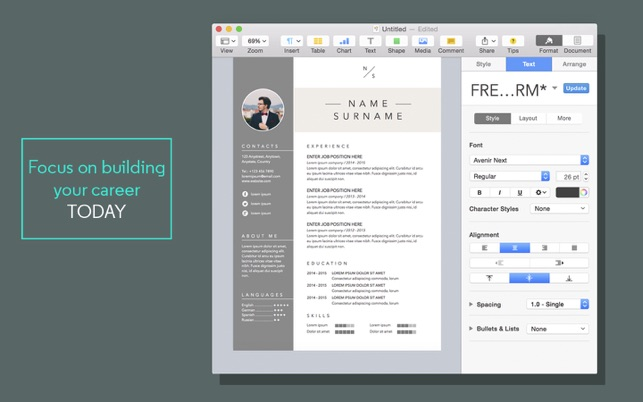 Resume  CV Templates for Pages on the Mac App Store - resume template for pages