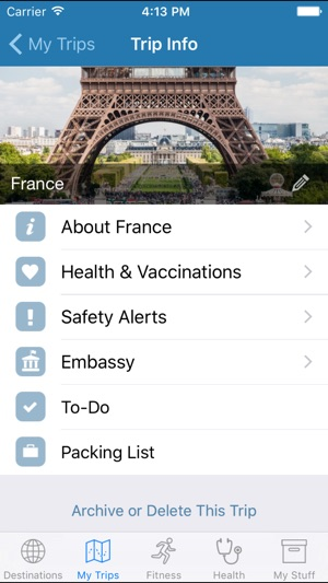 My Travel Health on the App Store