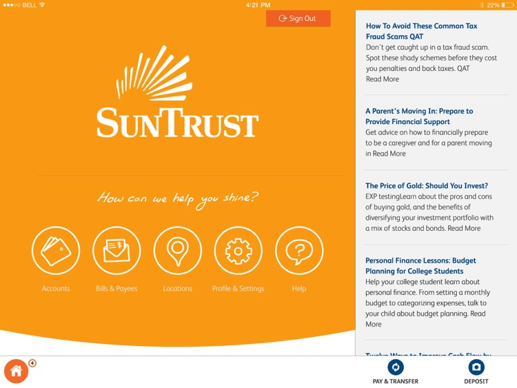 SunTrust Tablet App by SunTrust Banks, Inc