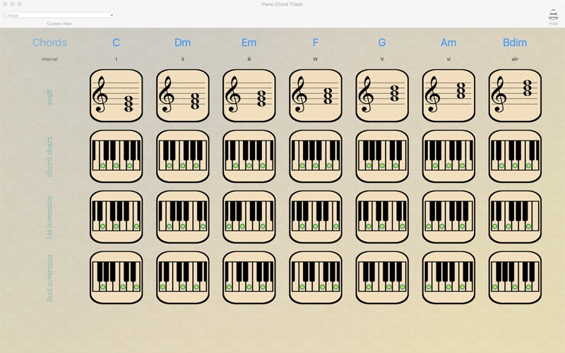 Piano Chord Triads - App - Mobile Apps