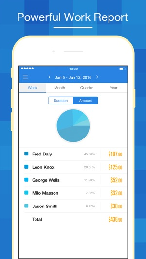 Hours Keeper - Time Tracking, Timesheet  Billing on the App Store
