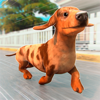Tania San Vicente - かわいいタウン犬レーシングワールド アートワーク