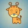 Huy Nguyen - Sticker Me Lovely Giraffe アートワーク