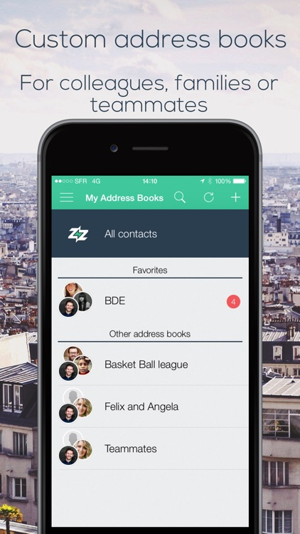 Dizzit  share customized address books, for family, colleagues, or