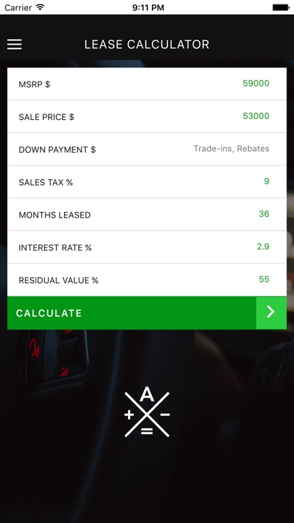 Auto Lease Calculator by Steven Ng