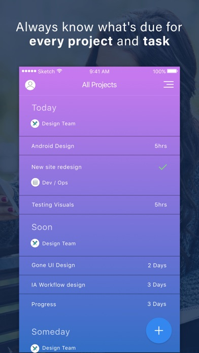 Gone Tasks - Free To Do List Project Manager  Daily Team Task