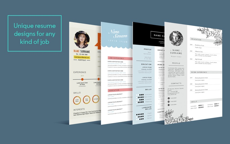 Resume \ CV Templates for Pages on the Mac App Store - resume templates for pages mac